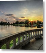 Sunrise In The Park Metal Print
