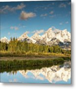 Sunrise In Wyoming Metal Print