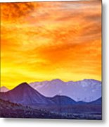 Sunrise Over Colorado Rocky Mountains Metal Print