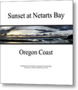 Sunset At Netarts Bay Metal Print