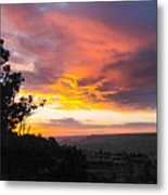 Sunset At Yaki Point Metal Print