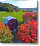 Sunset Hill Farms Indiana  Metal Print