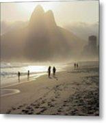 Sunset In Rio De Janeiro Metal Print
