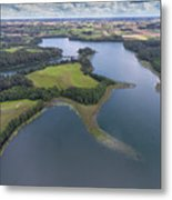 Suwalki Landscape Park, Poland. Summer Time. View From Above. Metal Print