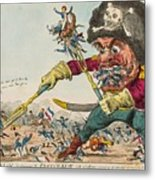Swallow Destroying The French Army, Metal Print