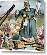 T. Roosevelt Cartoon Metal Print