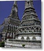 Temple Detail In Bangkok Thialand Metal Print