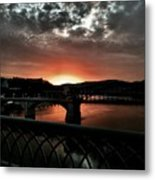 Tennessee River Sunset Metal Print