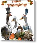 Thanksgiving Ducks Metal Print