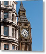 The Clock Tower In London Metal Print
