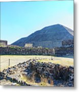 The Famous Pyramid Of The Sun Metal Print
