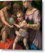 The Holy Family With The Young Saint John The Baptist Metal Print