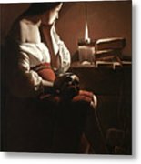 The Magdalen With The Smoking Flame Metal Print
