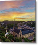 The Superb View Of The Grund, Luxembourg Metal Print