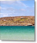 The Turquoise Water Of Dogs Bay Ireland Metal Print