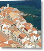 The View From The Rocca De Cefalu Metal Print