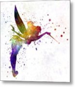 Tinkerbell In Watercolor Metal Print