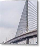 Toledo Ohio City Skyline And Bridges Around Downtown Metal Print