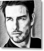 Tom Cruise Collection Metal Print