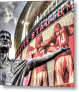 Tony Adams Statue Emirates Stadium Metal Print