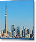 Toronto Skyline In The Day Metal Print
