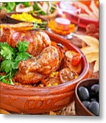 Traditional Thanksgiving Day Dinner Metal Print