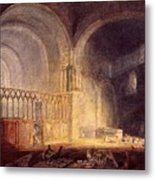 Turner Joseph Mallord William Transept Of Ewenny Prijory Glamorganshire Joseph Mallord William Turner Metal Print