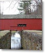 Uhlerstown Covered Bridge Metal Print