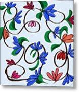 untitled  Floral Metal Print