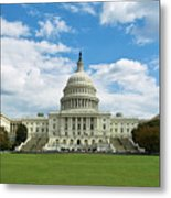 Us Capitol Washington Dc Negative Metal Print