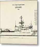 U.s. Coast Guard Cutter Legare Metal Print