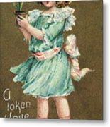 Valentines Day Card Metal Print