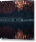 View Across Lake Bled Metal Print