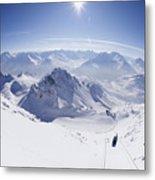 View From Summit Of Valluga, St Saint Anton Am Arlberg Austria Metal Print