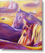 Horse World Metal Print