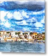 View Of Brindisi From The Ship Metal Print