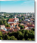 view of downtown in Vilnius city, Lithuanian Metal Print