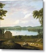 View Of Springfield On The Connecticut River Metal Print