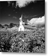 vik church Vik i Myrdal Iceland Metal Print