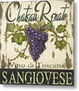 Vineyard Red Wine Sign Metal Print