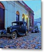 Vintage Cars In Colonia Del Sacramento, Uruguay Metal Print