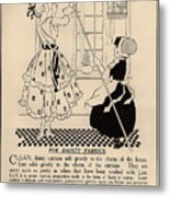 Clean Dainty Curtains Vintage Soap Ad Metal Print