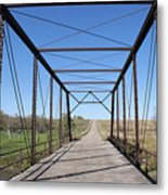 Vintage Steel Girder Bridge Metal Print