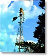 Vintage Windmill Metal Print