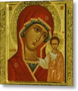 Virgin And Child Icon Metal Print