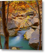 Virgin River In Autumn Metal Print