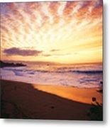 Waimea Bay Sunset Metal Print by Bob Abraham - Printscapes