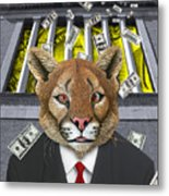 Wall Street Predator Metal Print