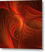 Warmth, Modern Abstract Fractal Art Metal Print
