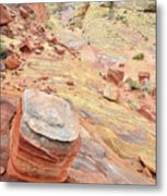 Wash 3 Color In Valley Of Fire Metal Print